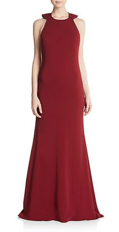 Badgley Mischka | Ruffled-Back Gown | SAKS OFF 5TH