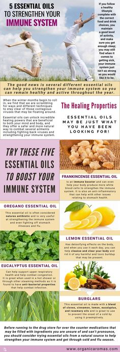 5 Essential Oils to Strengthen your Immune System #EssentialOils #OrganicAromas