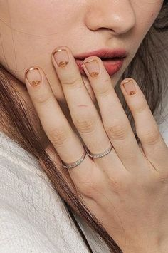 Trendy French Manicure Designs For Short Nails Half Moons Ideas Half Moon Manicure, Moon Nails, Nagellack Design, Nagellack Trends, French Manicure Designs, Nail Art Designs, Gold Designs, French Nails, French Manicures