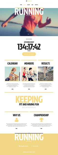 Running Responsive Website Template #webdesign  http://www.templatemonster.com/website-templates/45416.html?utm_source=Pinterest&utm_medium=timeline&utm_campaign=cvdrt