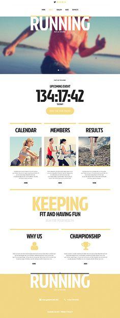 Running Responsive Website Template #webdesign  http://www.templatemonster.com/website-templates/45416.html?utm_source=Pinterest&utm_medium=timeline&utm_campaign=cvdrt