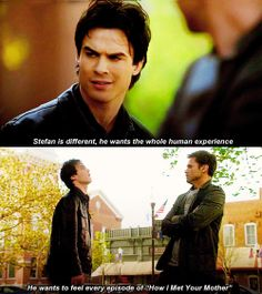 The Vampire Diaries humor - funny Damon and Alaric! TVD quote. Matt Davis and Ian Somerhalder.