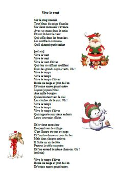 chanson vive le vent Chanson Noël Vive le vent French Christmas Songs, Christmas Sheet Music, French Songs, Christmas Songs For Toddlers, French Language, Activities For Kids, Xmas, Animation, Education