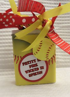 Items similar to Softball Gift tin on Etsy Softball Gift tin by IRememberYou on Etsy Softball Party, Softball Crafts, Girls Softball, Baseball Mom, Softball Things, Softball Stuff, Volleyball, Basketball, Sports Mom