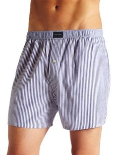 b85c62282fb4 Black Friday Tommy Hilfiger Men's Solid Vineyard Woven Boxer, Navy Stripe,  Medium from Tommy