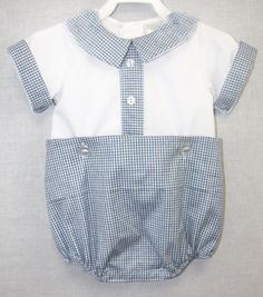 292029  Vintage inspired Baby Boy Bubble  Baby Clothes by ZuliKids