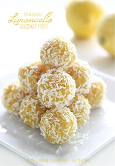 Limoncello Coconut Pops {raw, vegan, grain free, gluten free, refined sugar free}