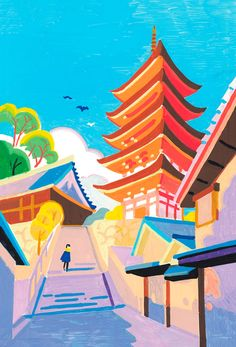 21 Days In Japan: Artist Recreates Scenes Of Japan Through Pleasing Pastel-Colored Illustrations Posca Marker, Marker Art, Posca Art, Pen Art, Gouache Painting, Art Sketchbook, Aesthetic Art, Cute Art, Art Inspo
