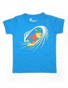 Blue T-shirt with surfing viking - Danefae