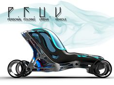 Designed for the year 2040 this vehicle solves a mayor problem for every city in the future, space. Only 30% longer than a standard bicycle, P.F.U.V (Personal Folding Urban Vehicle) has the ability of folding itself when not in use for reducing space to a minimum. When folded, this vehicle can be stacked in front of one another for parking.Designer : Eduardo Díaz Tostado