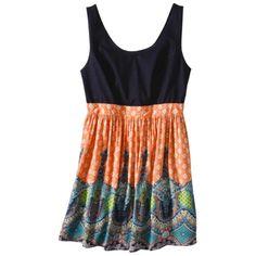 Xhilaration® Junior's Plus-Size Sleeveless Tank Dress - Blue Denim