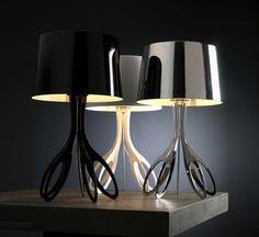 Modern Elegant Table Lamp by Faro - Carla Contemporary Table Lamps, Contemporary Interior, Modern Table, Contemporary Style, Lamp Design, Lighting Design, Accent Lighting, Living Room Modern, Living Room Designs