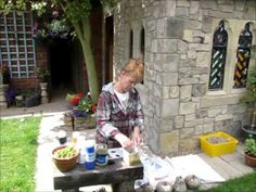 MAKING A FAUX STONE CARVED GARDEN BUILDING - YouTube