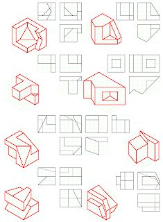 losmuertosdeldiedrico: PERSPECTIVA ISOMÉTRICA 1º BACHILLERATO Isometric Drawing Exercises, Autocad Isometric Drawing, Drawing Sketches, Art Drawings, Orthographic Drawing, Geometric Drawing, Concept Diagram, 3d Shapes, Technical Drawing