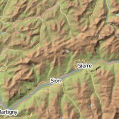 Cartes Des Refuges Sommets Et Sources Point Deau Dans Massif Alpes