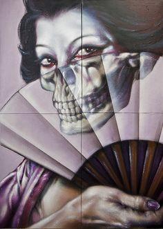 Skull of Geisha by CAKTUS