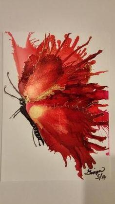 Drawing flowers & mandala in ink - drawing on demand - # flowers . Drawing Flowers & Mandala in Ink – Drawing On Demand – Alcohol Ink Tiles, Alcohol Ink Crafts, Alcohol Ink Painting, Flow Painting, Pour Painting, Painting On Tiles, Diy Painting, Gouache Painting, Flower Mandala