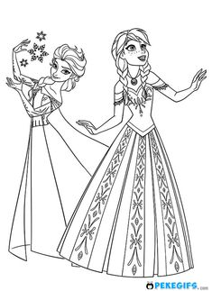 Coloring Free Printable Elsa Pages For Kids Best And Anna P Frozen Page