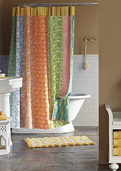That shower curtain is the ultimate!