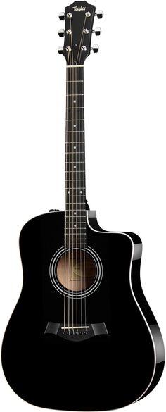 Taylor 210CE Black Cutaway Electro Acoustic Guitar