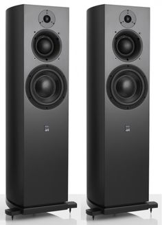 Designed for small to medium scale stereo and multi-channel applications, the new ATC SCM40 incorporates a wholly ATC designed and built tweeter, and a stylishly curved cabinet. Black. Best Loudspeakers, Speaker Box Design, Monitor Speakers, Hi End, Speaker Stands, Tape Recorder, Neodymium Magnets, Theatres, Audio Equipment
