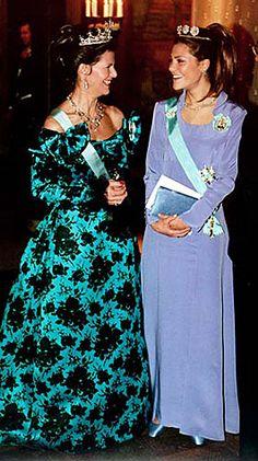 Koningin Silvia en Prinses Victoria