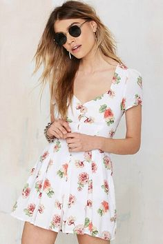 LUCLUC Printed V-neck Lovely Lace up Mini Dress - LUCLUC