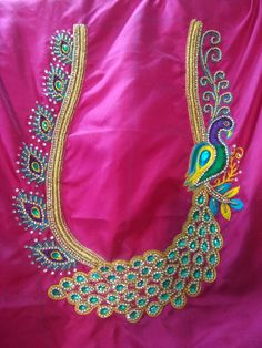 Improve How You Look With These Great Fashion Tips Peacock Blouse Designs, Peacock Embroidery Designs, Kids Blouse Designs, Hand Work Blouse Design, Wedding Saree Blouse Designs, Simple Blouse Designs, Peacock Design, Fancy Blouse Designs, Wedding Blouses