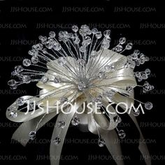 Wedding Flowers - $28.99 - Elegant Round Satin Wedding Bouquet (123031503) http://jjshouse.com/Elegant-Round-Satin-Wedding-Bouquet-123031503-g31503