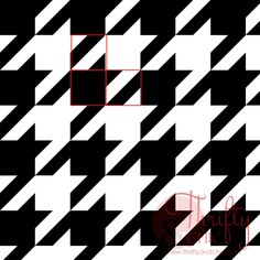 How to paint a houndstooth pattern on anything using painters tape