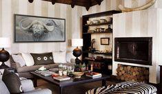 Idées Décoration, lodge africain, tableau peinture contemporaine realiste animaux afrique, buffle