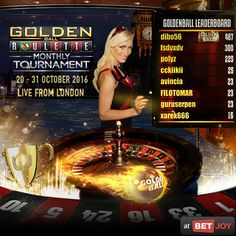Let's get spinning and winning on the Golden Ball Roulette table for a wicked trip to London! The tournament ends on Halloween, 31st October, with the live draw taking place on the 1st of November. There is a Golden Ball tournament every 19 spins and all you need to do is win one of them for an entry into the draw. #casino #onlinecasino #livecasino #roulette #goldenball #HalloweenHauntings #halloween #London #trip #livedealer #extremelivedealer #livechat