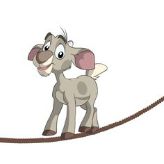 Meet Bil, Balance in Life. Bil walks on a tightrope that represents the balance that keeps you going in life. #crocpond #goat #balance #life
