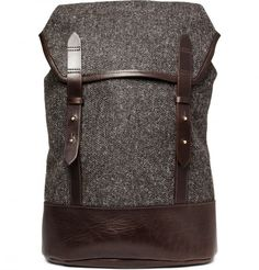 Cherchbi Tweed and Leather Backpack