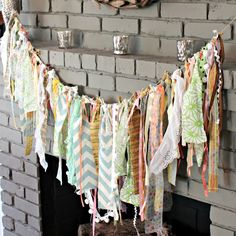 21 No-Sew Fabric Scrap Ideas {Roundup}