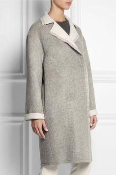 Lanvin | Oversized wool and mohair-blend coat