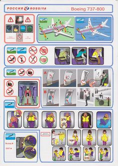 Safety Card  Rossiya B737-800 (1)