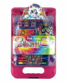 Amazon.com: Lisa Frank Desk Caddy w/ Clip Board & Storage Desk. Styles May Vary.: Toys & Games
