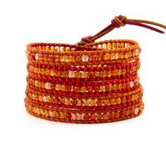 ahhhhh... orange chan luu wrap bracelet