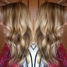 Transformed her blonde ombré into dimensional balayage highlights.