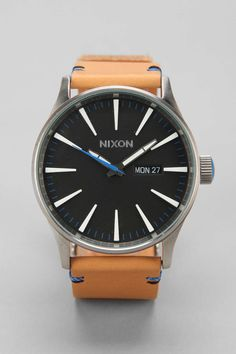 Nixon The Sentry Leather Watch - Urban Outfitters