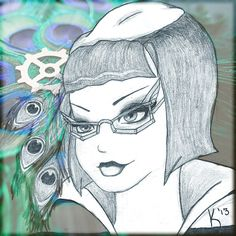Lady Boxington -- Steampunk Caricatures