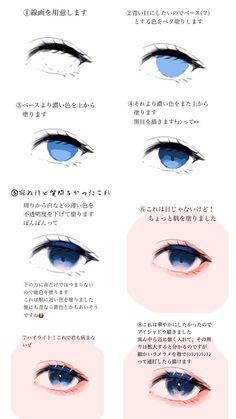 Eye Drawing Tutorials, Digital Painting Tutorials, Digital Art Tutorial, Drawing Techniques, Drawing Tips, Art Tutorials, Concept Art Tutorial, Digital Paintings, Wie Zeichnet Man Manga