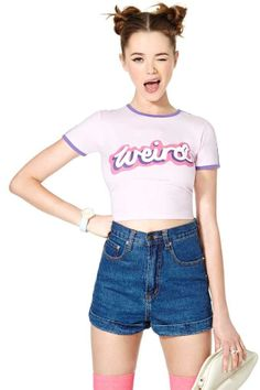 Lazy Oaf Weirded Out Crop Tee