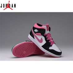 release date: 57722 b90e0 Air Jordan 1 Retro White Black Pink Women s Shoe,Jordan-Jordan 1 Shoes Sale  Online