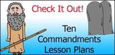 Ten Commandments Sunday School Lessons