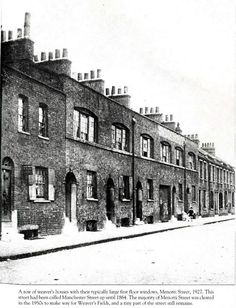 Weavers Houses on Menotti Street, Bethnal Green 1927 Victorian Life, Victorian London, Vintage London, Old London, Uk History, London History, Family History, Local History, Bethnal Green