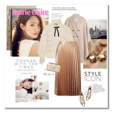 """""""Golden lady"""" by girl-with-ideas ❤ liked on Polyvore featuring Shin Choi, Isabel Marant, Miss Selfridge, Chanel, Steve Madden and Oscar de la Renta"""