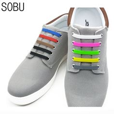 best sneakers f57f9 f29cd NEW Elastic Silicone Shoe Lace No-Tie Silicone Shoelaces for All Sneaker  Creative Shoelaces For Unisex For Kids