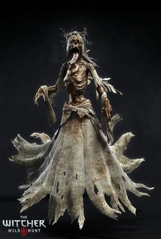 Another monster I did for The Witcher 3 - Wild Hunt. Fantasy Warrior, Fantasy Rpg, Medieval Fantasy, Dark Fantasy Art, The Witcher Wild Hunt, The Witcher 3, Creepy Horror, Horror Art, Scary